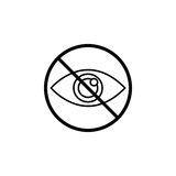 Do not spy line icon, prohibition sign, forbidden Royalty Free Stock Photography