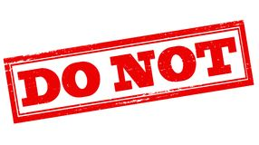 Do not. Stamp with text do not inside, illustration royalty free illustration