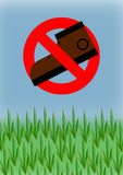 Do Not Step on Grass Stock Photos
