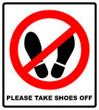 Do Not Step Here Please Sign Vector Illustration Royalty Free Stock Photo