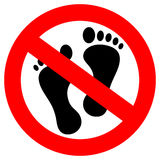 Do not step here vector sign Stock Image