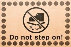 Warning symbol Royalty Free Stock Photography