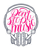 Do not stop music-03 Stock Image