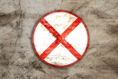Do not stop rusty sign Stock Photography