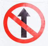 Do not straight sign Stock Photo