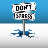 Do not stress plate Royalty Free Stock Images