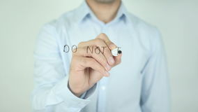 Do not Talk Too Much, Writing On Transparent Screen stock footage