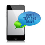 Do not text and drive cell bubble message Royalty Free Stock Photography
