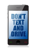 Do not text and drive cell message Stock Photography