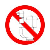 Do not throw paper towels in the toilet. Stop sign. Ban for WC.  vector illustration