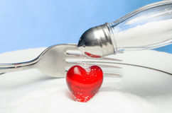 Do not throw salt in your heart! Royalty Free Stock Photo