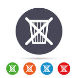 Do not throw in trash. Recycle bin sign icon. Royalty Free Stock Photos