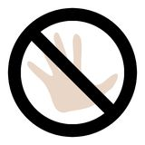 Do not touch Stock Photos
