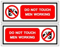 Do Not Touch Men Working Symbol Sign, Vector Illustration, Isolate On White Background Label .EPS10 royalty free illustration