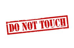 Do not touch. Rubber stamp with text do not touch inside,  illustration Stock Images