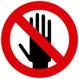 Do not touch sign Royalty Free Stock Image