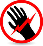 Do not touch sign Stock Photo