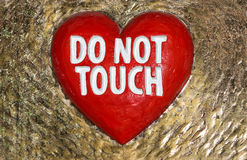 Do not touch sign Royalty Free Stock Images
