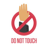 Do not touch sing. Royalty Free Stock Photography
