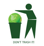 Do not trash the planet Royalty Free Stock Images