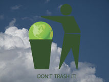 Do not trash it Stock Photo