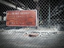 DO NOT TRESPASS. Sign in Jersey City stock images