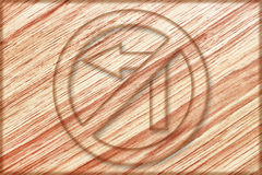 do not turn left sign on wooden board Stock Image