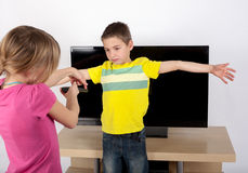 Do not turn the TV ON Stock Images