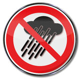 Do not use this device when it is raining Stock Photography
