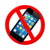 Do not use smart phone sign Royalty Free Stock Photos