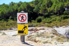 Do not walk here Royalty Free Stock Images