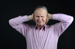 Do not want to hear it!. Do not tell me about it Stock Images