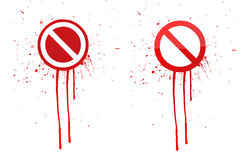 Do not warning ink splatter sign Stock Photography