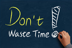 Do not waste time Stock Image