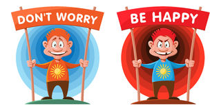 Do not worry. Be happy. Royalty Free Stock Images