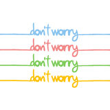 Do not worry message Royalty Free Stock Photo