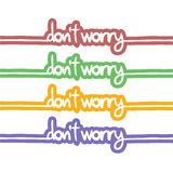 Do not worry message Stock Photo