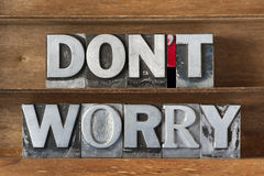 Do not worry tr Royalty Free Stock Image