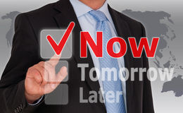 Do it now business concept Royalty Free Stock Photos