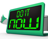 Do It  Now Clock Shows Urgency For Action Royalty Free Stock Photo