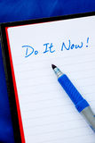 Do It Now concepts of to do list Royalty Free Stock Image