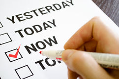 Do it now motivation concept Stock Photo