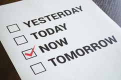 Do it now motivation concept royalty free stock images