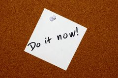 Do it now! Royalty Free Stock Images