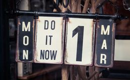 Do it now Royalty Free Stock Images
