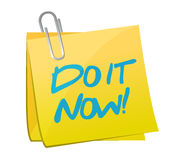 Do it now post illustration design Stock Image