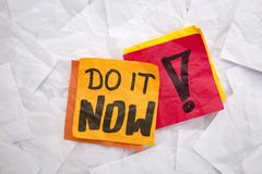Do it now reminder Stock Images