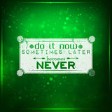 Do it now royalty free illustration