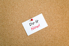 Do it now text concept Royalty Free Stock Photography
