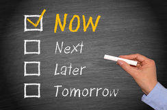 Do it now Royalty Free Stock Photo